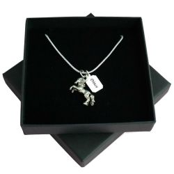 Loss of Horse, Sympathy Gift, Engraved Necklace .